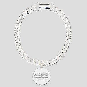 Mad Dog Quote Charm Bracelet, One Charm