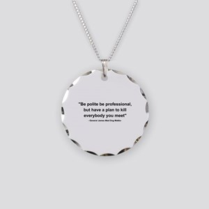 Mad Dog Quote Necklace Circle Charm