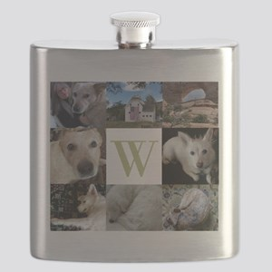 Monogram and Photos Block Flask