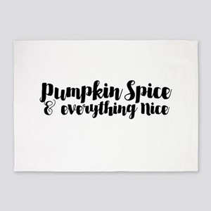 pumpkin spice and everything nice 5'x7'Area Rug