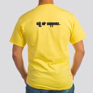 Big Air Front and Back Design Yellow T-Shirt