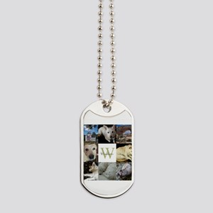 Photo Block with Monogram and Name Dog Tags