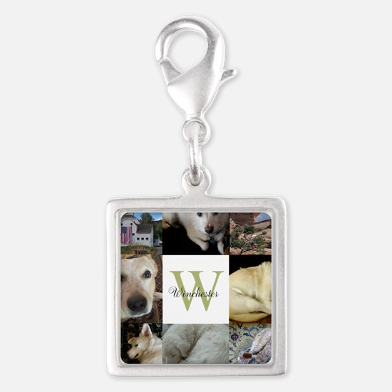 Photo Block with Monogram and Name Charms