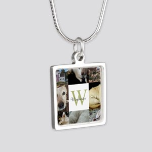Photo Block with Monogram and Name Necklaces