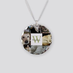 Photo Block with Monogram and Name Necklace