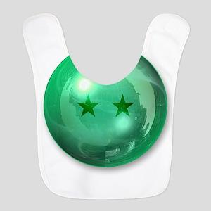 Lucky Two Stars Ball (Green) Polyester Baby Bib
