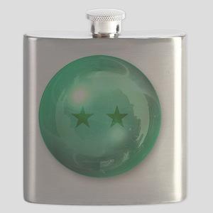 Lucky Two Stars Ball (Green) Flask