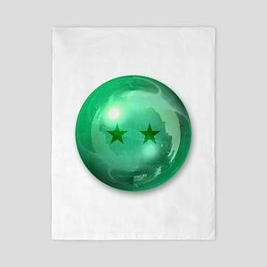 Lucky Two Stars Ball (Green) Twin Duvet