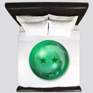 Lucky Two Stars Ball (Green) King Duvet