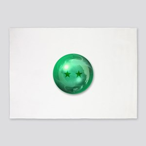 Lucky Two Stars Ball (Green) 5'x7'Area Rug