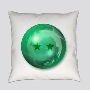 Lucky Two Stars Ball (Green) Everyday Pillow