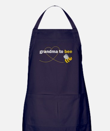 Grandma To Bee Apron (dark)