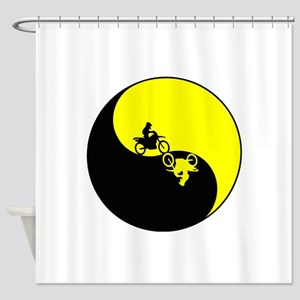 Motor cross Shower Curtain