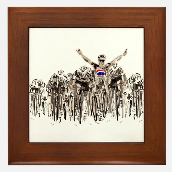 Tour de France Framed Tile