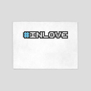 #inlove (Pixel Art) 5'x7'Area Rug