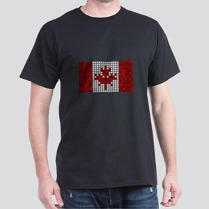 Flag of Canada (Pixel Art/Disco) T-Shirt