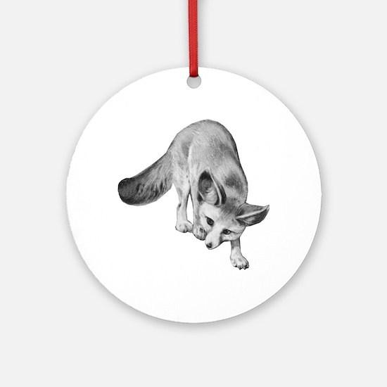Fennec Desert Fox Round Ornament