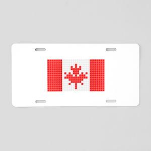 Flag of Canada (Pixel Art) Aluminum License Plate