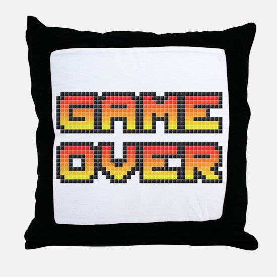 Game Over (Pixel Art) Throw Pillow