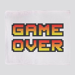 Game Over (Pixel Art) Throw Blanket