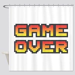 Game Over (Pixel Art) Shower Curtain