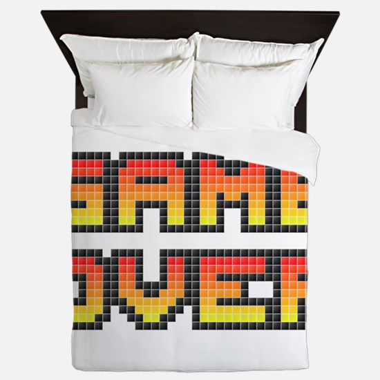 Game Over (Pixel Art) Queen Duvet