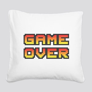 Game Over (Pixel Art) Square Canvas Pillow