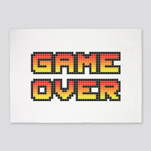 Game Over (Pixel Art) 5'x7'Area Rug