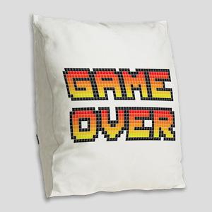 Game Over (Pixel Art) Burlap Throw Pillow