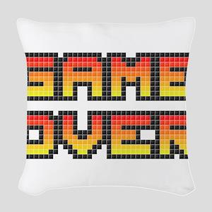 Game Over (Pixel Art) Woven Throw Pillow