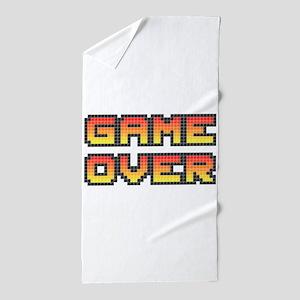 Game Over (Pixel Art) Beach Towel
