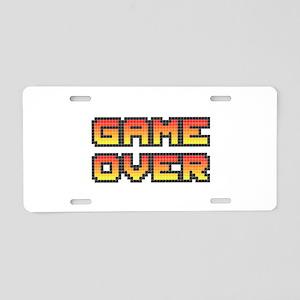 Game Over (Pixel Art) Aluminum License Plate