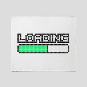 Loading (Pixel Art) Throw Blanket