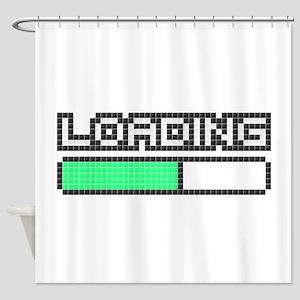 Loading (Pixel Art) Shower Curtain
