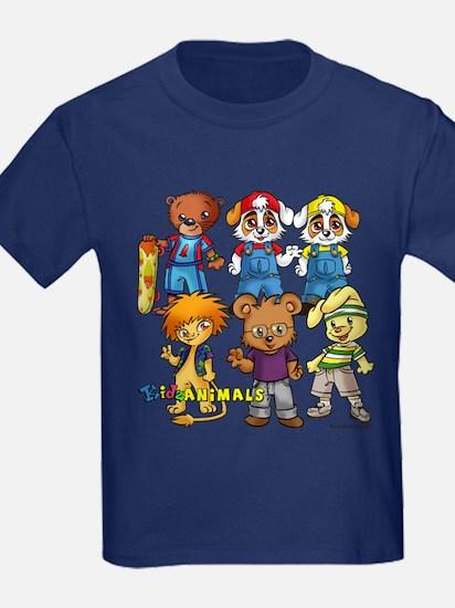G1.a - Kidzanimals Boys - Dark T-Shirt