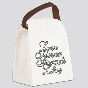 Color My - Love Never Forgets Lov Canvas Lunch Bag