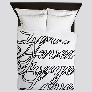 Color My - Love Never Forgets Love Queen Duvet