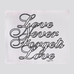 Color My - Love Never Forgets Love Throw Blanket