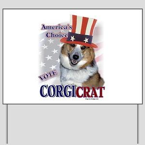 CORGIcrat Yard Sign