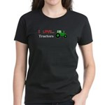 I Love Tractors Women's Dark T-Shirt