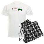 I Love Tractors Men's Light Pajamas