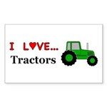 I Love Tractors Sticker (Rectangle 10 pk)