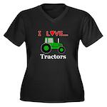 I Love Tract Women's Plus Size V-Neck Dark T-Shirt