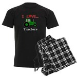 I Love Tractors Men's Dark Pajamas