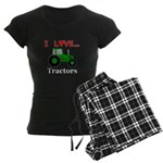 I Love Tractors Women's Dark Pajamas