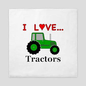 I Love Tractors Queen Duvet