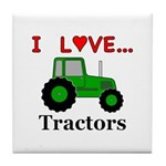I Love Tractors Tile Coaster