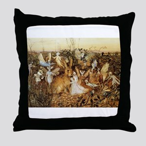 Fairy Bunny Throw Pillow