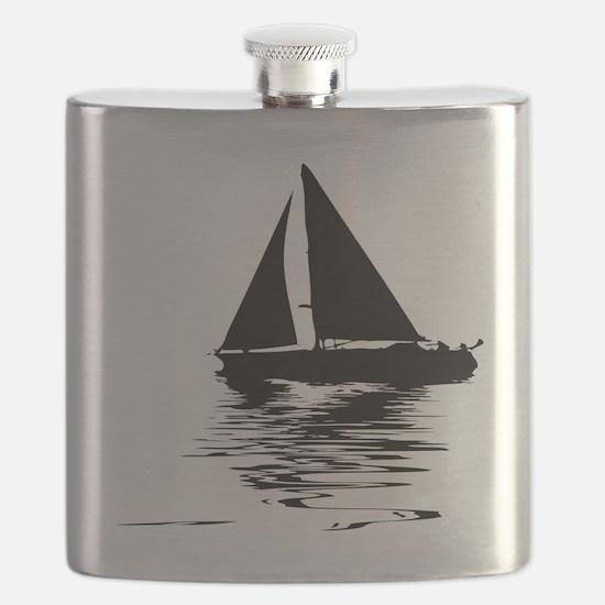 Cute Sailboats Flask