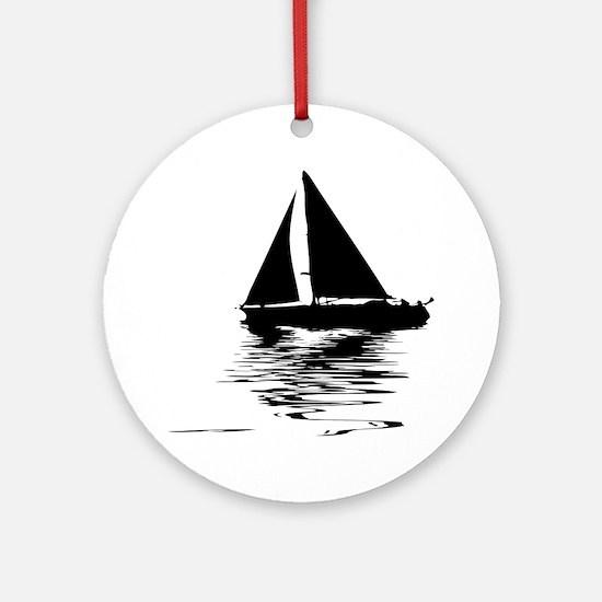 Cute Sailing Round Ornament